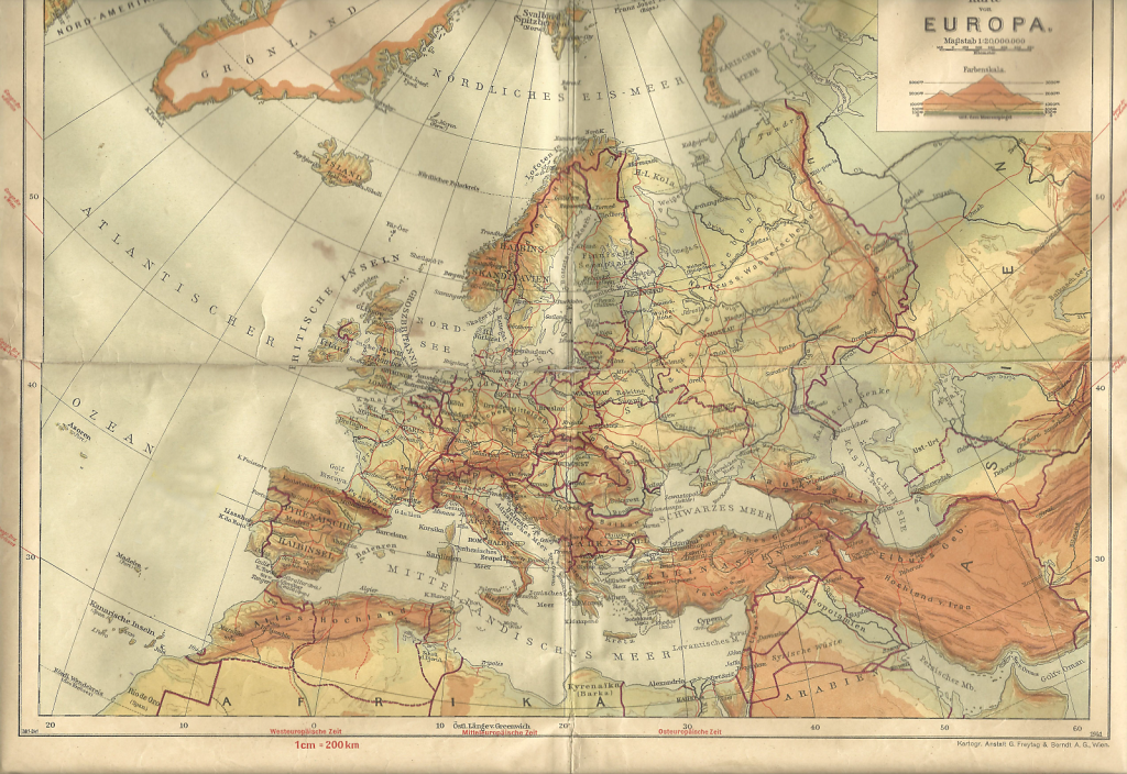 Deutsches Reich Karte.Karte Von Europa Deutsches Reich Rust Im Tullnerfeld Bildarchiv